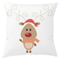 Santa Reindeer Cushion Cover