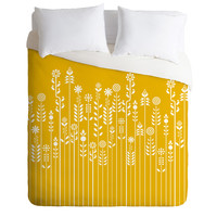 Budi Kwan Overgrow Yellow Duvet Cover