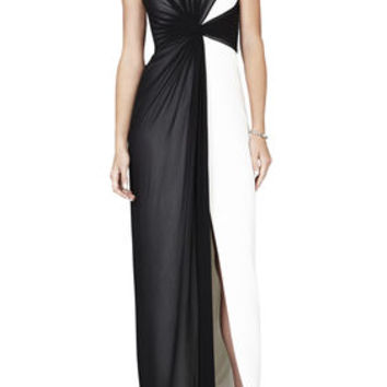BCBG Ninah Color-Blocked Gown