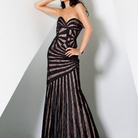 Unique Strapless Evening Gown 1739