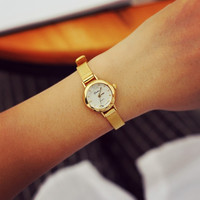 Comfortable Vintage Fashion Quartz Classic Watch Round Ladies Women Men wristwatch On Sales = 1956806980
