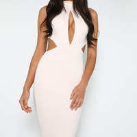 Wicked Games Midi Dress - Nude