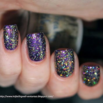 Freaky & Fabulous Gold Holo Glitter Nail Polish from Life's a Beach Collection OLD LABELS on SALE