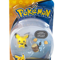 Tomy Pokemon Pichu vs Komala figure set