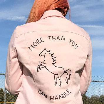 More Than You Can Handle Denim Jacket in Pink