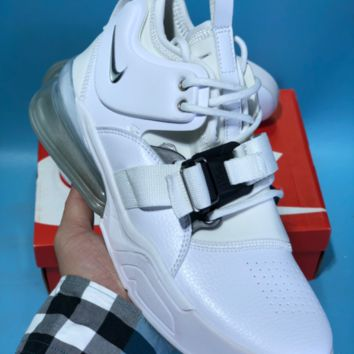 DCCK N605 Nike Air Force 270 Leather Air Cushion Running Shoes White