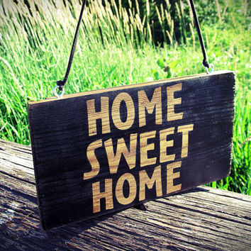Home Sweet Home Sign, Wood Sign, Front Door Sign, Wall Decor, Wall Hanging, Home Decor, Hanging Wooden Sign, Wall Art, Cabin Decor