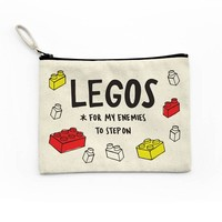 Legos For My Enemies Canvas Pouch