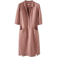 Poetry Linen Shirt Dress , Earth Pink