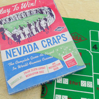 Vintage 40's Nevada Craps Game - Vegas Style Dice Game
