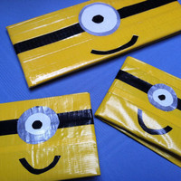 Boys minion despicable me duck tape wallet (check my other listings for woman's minion wallet)