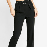 Belted Ankle Dress Pant