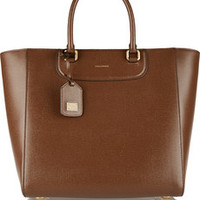 Dolce & Gabbana Lucia textured-leather tote – 20% at THE OUTNET.COM