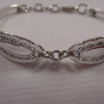 A Beautiful Spoon Bracelet by Spoon Rings Plus Antique Spoon and Fork Bracelets b403