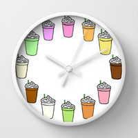 Frappuccinos Wall Clock by hayimfabulous