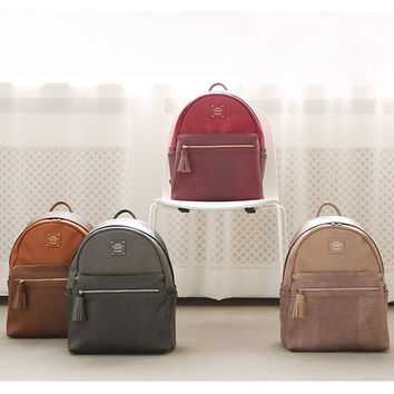 Monopoly Harmony mix match leather backpack