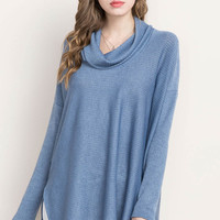 Cowl Neck Oversized Sweater Top