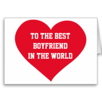 To The Best Boyfriend Valentine Greeting Cards