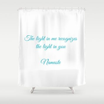 Namaste Shower Curtain by Leah McPhail