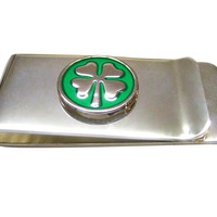 Lucky Four Leaf Clover Money Clip