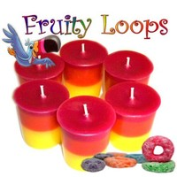 6 Fruity Loops Votive Candles Kids Cereal Scent