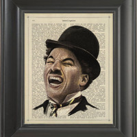 Charles Chaplin  Printed on Intelligence page  -  250Gram paper.