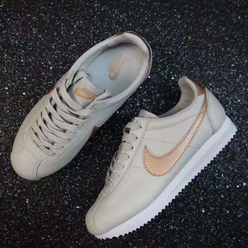 NIKE Cortez Fashion Women Running Sport Casual Shoes Sneakers man gray