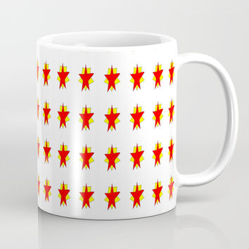 red stars-sky,light,rays,hope,pointed,mystical,estrella,nature,spangled,girly,gentle,star,sun Mug by oldking