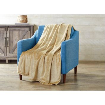Better Homes and Gardens Velvet Plush Metallic Throw Blanket - Walmart.com