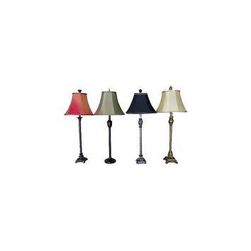 Santa's Workshop 4 Piece Buffet 30'' H Table Lamp Set with Bell Shade