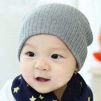 Cute Cap 12 Colors Baby Hat For Girls & Boys Knit Baby Hats Beanie Candy Color Toddler Children Hat