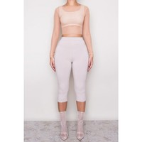 Baziic Flesh Mesh Layering Crop HOT!MESS Fashion UK