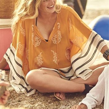 Beach With a Vintage Flare Cover Up