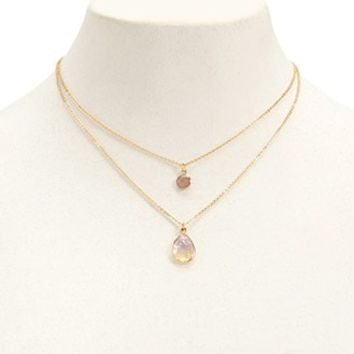 Layered Figaro Chain Necklace