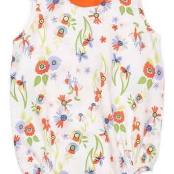 Margherita Floral Print Bubble Bodysuit (Baby Girls) | Nordstrom