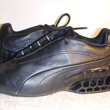 PUMA Cat Superstructure sneakers black leather women size 8 Very RARE VMC0506
