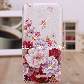 For HTC Desire 510 Case Luxury Crystal Diamond 3D Bling Hard Plastic Cover Case For HTC 510 Desire D510 Cell Phone Cases