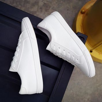 2016 new spring and summer with white shoes women flat leather canvas shoes female white board shoes casual shoes female b2