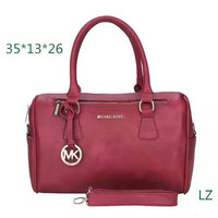 Michael Kors MK ZIPPER Luggage Travel Bags Tote Handbag red H-LLBPFSH