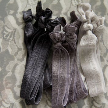 Fifty Shades of Grey Hair Tie Set No Dent No Fray Set by Murabelle