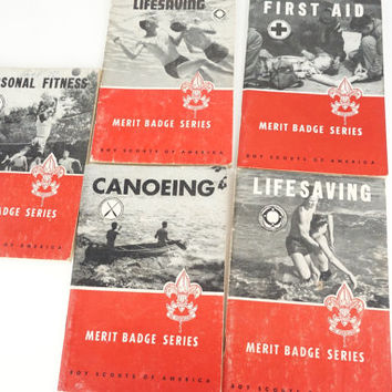 Vintage Boy Scout Books, Merit Badges Series