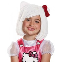 Hello Kitty Wig Costume Accessory Kids Hello Kitty Halloween
