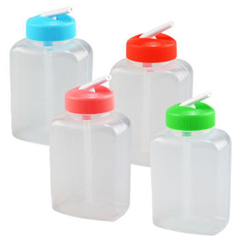 Bulk Clear Plastic Water Bottles with Flip-Up Straws, 2-ct. Packs at DollarTree.com