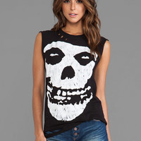 Christian Benner The Misfits Skull Sleeveless Tee in Black