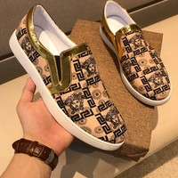 Versace Signature 17 Slip-on Sneakers Dsu6776 - Best Online Sale