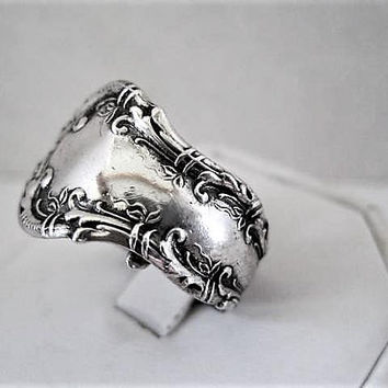 Wallace Sterling Spoon Ring,  Size 9.5, 1899 Patent Sterling, Pattern,  50's  ByPass Ring