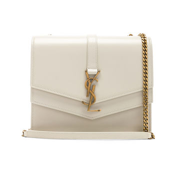 Saint Laurent Medium Monogramme Bag in Blanc Vintage | FWRD