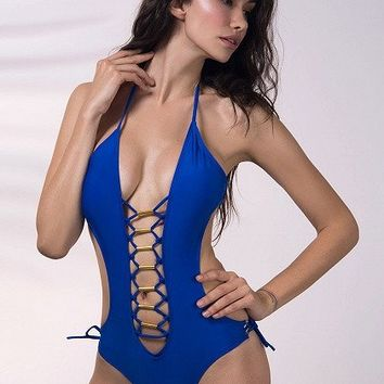 Tango Babe Lace Up Swimsuit