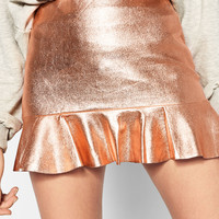 MINI SKIRT WITH FRILLED HEM