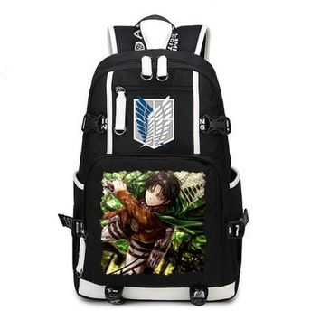 Anime Backpack School Attack on Titan Backpack kawaii cute Cosplay Nylon School Bag Travel Bags AT_60_4